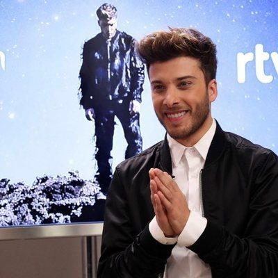 Blas Cantó, feliz en la presentación de su canción 'Universo' para Eurovisión 2020