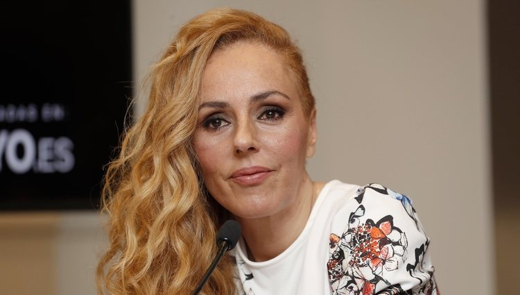 Rocío Carrasco en la presentación de 'Que no daria yo por ser Rocio Jurado'