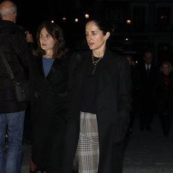 Carolina Adriana Herrera en el funeral de la Infanta Pilar en La Almudena