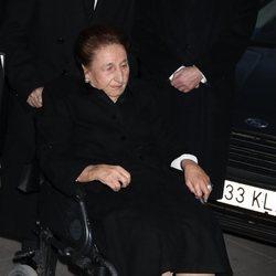 La Infanta Margarita en el funeral de la Infanta Pilar en La Almudena