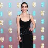 Emilia Clarke en la alfombra roja de los Premios BAFTA 2020