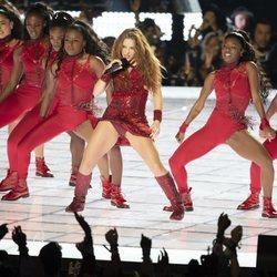 Shakira durante su actuación en la Super Bowl 2020