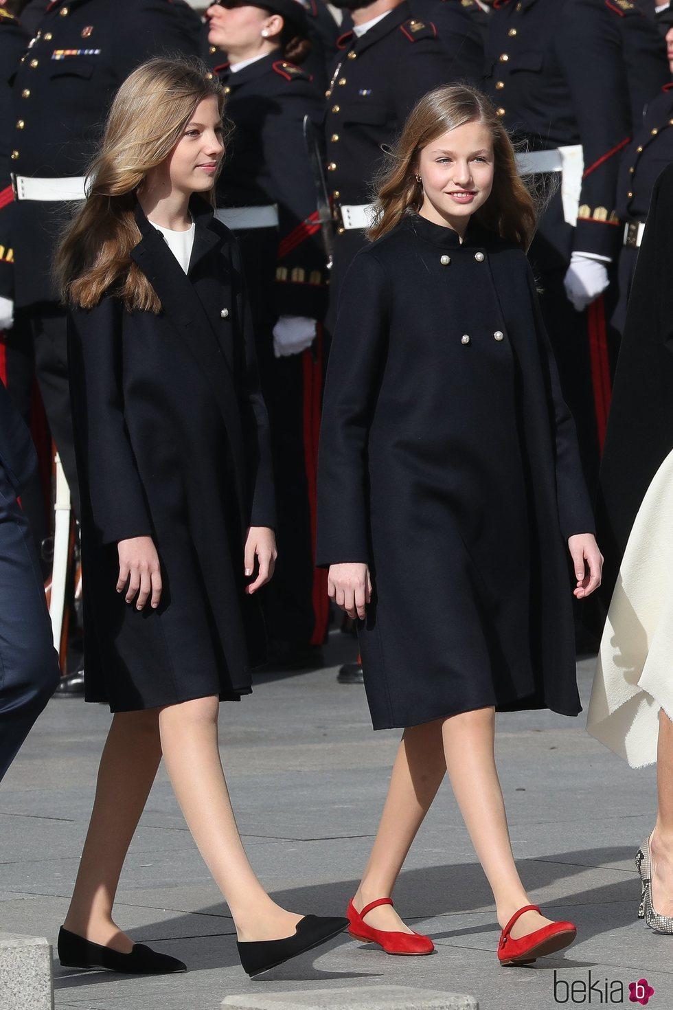 La Princesa Leonor y la Infanta Sofía en la Apertura de la XIV Legislatura
