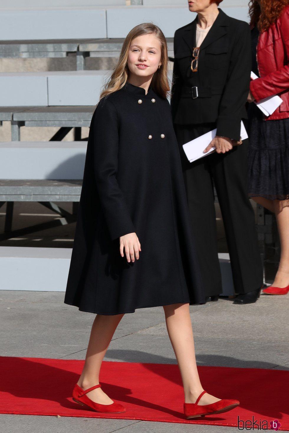 La Princesa Leonor llegando a la Apertura de la XIV Legislatura