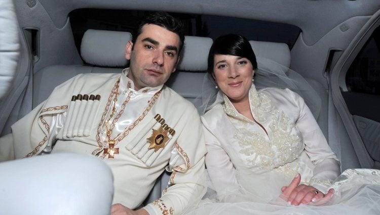 Los Príncipes David y Ana Bagration el día de su boda