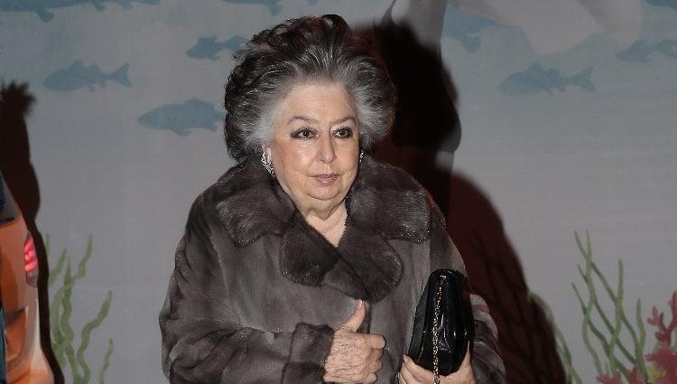 Elena Kirby Bagration en el 80 cumpleaños de la Infanta Margarita