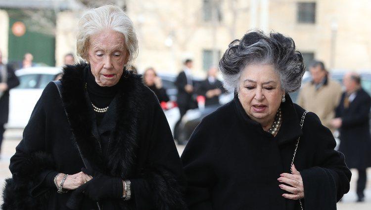 Elena Kirby Bagration en el funeral de la Infanta Pilar en El Escorial