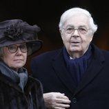 Bertil Bernadotte y Jill Bernadotte en el funeral de Dagmar von Arbin