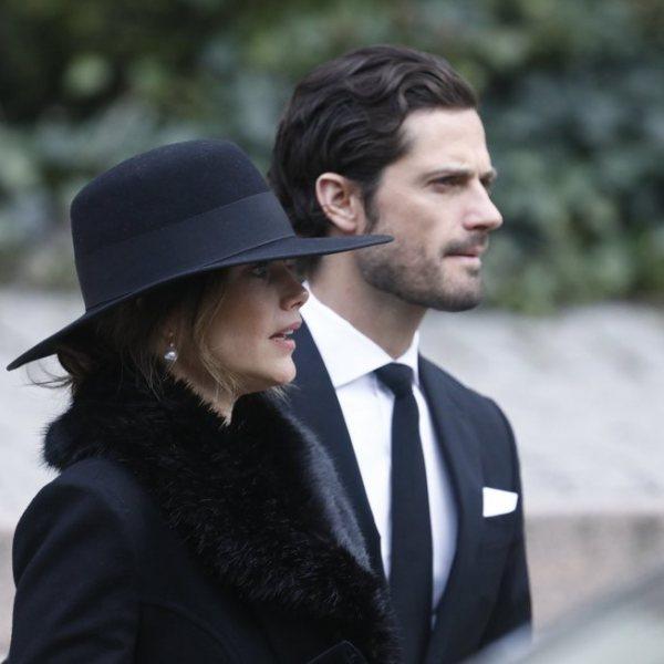 La Familia Real de Suecia en el funeral de Dagmar von Arbin