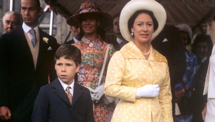 La Princesa Margarita y su hijo, David Armstrong-Jones