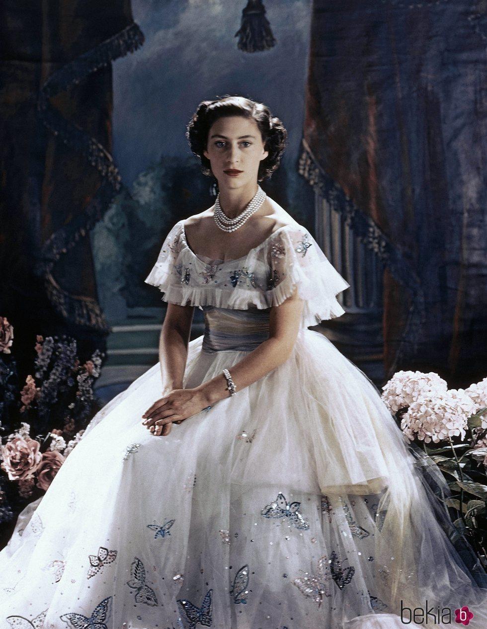 Posado de la Princesa Margarita de Inglaterra por su 21 cumpleaños