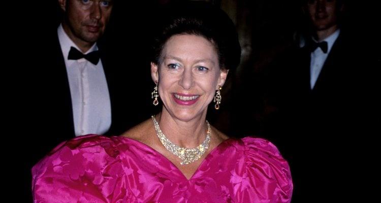La Princesa Margarita de Inglaterra en una fiesta