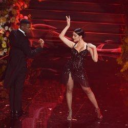 Georgina Rodríguez bailando un tango en el Festival de San Remo 2020