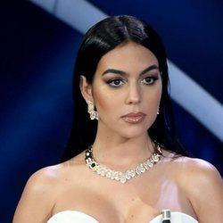 Georgina Rodríguez en su debut como presentadora del Festival de San Remo 2020