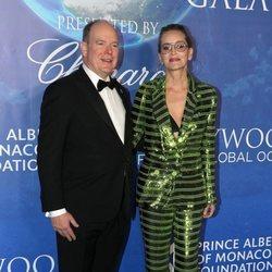 Alberto de Mónaco y Sharon Stone en la Global Ocean Gala 2020