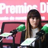 Aitana muy seria en la presentación de los Premios Cadena Dial 2020