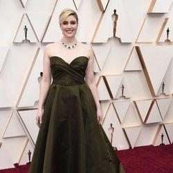 Greta Gerwig en la alfombra de los Oscar 2020