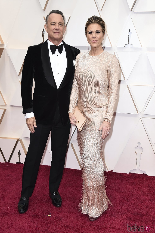 Tom Hanks y Rita Wilson en la alfombra roja de los Oscar 2020