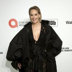 Sharon Stone en la fiesta organizada por Elton John tras los Oscar 2020