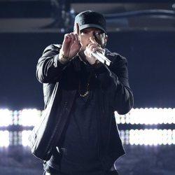 Eminem durante su actuación en los Premios Oscar 2020