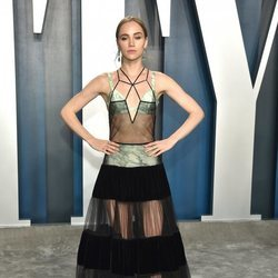 Suki Waterhouse en la fiesta de Vanity Fair tras los Oscar 2020