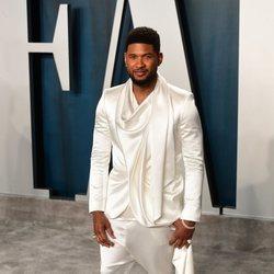 Usher en la fiesta de Vanity Fair tras los Oscar 2020
