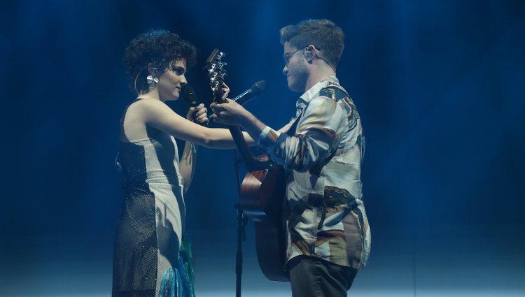 Anne y Gèrard durante su actuación en la Gala 4 de 'OT 2020'