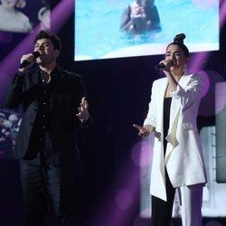 Javy Ramírez y Anaju en la Gala 4 de 'OT 2020'