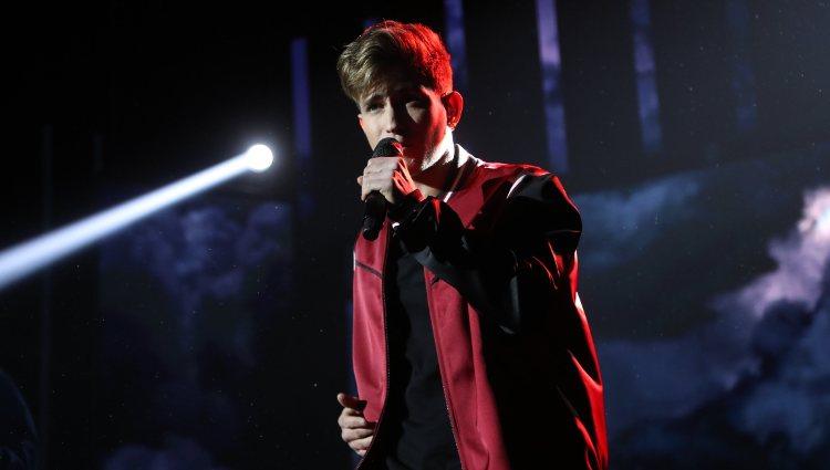 Nick durante su actuación en la Gala 4 de 'OT 2020'