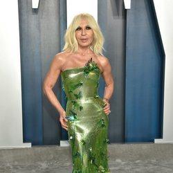 Donatella Versace en la fiesta de Vanity Fair tras los Oscar 2020
