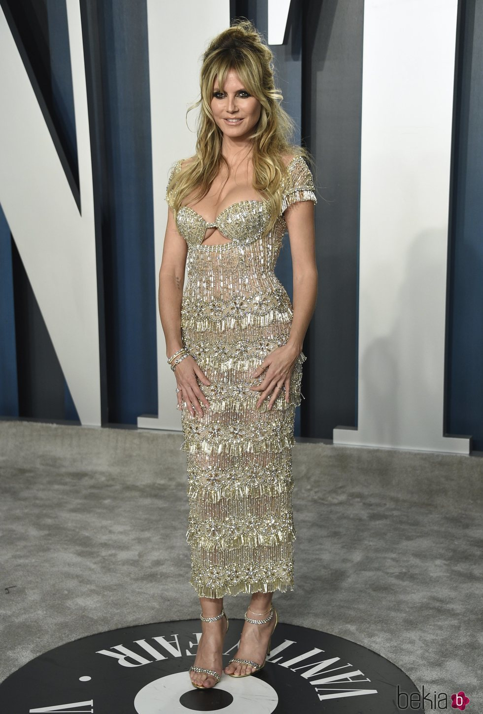 Heidi Klum en la fiesta de Vanity Fair tras los Oscar 2020