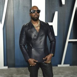 Kanye West en la fiesta de Vanity Fair tras los Oscar 2020