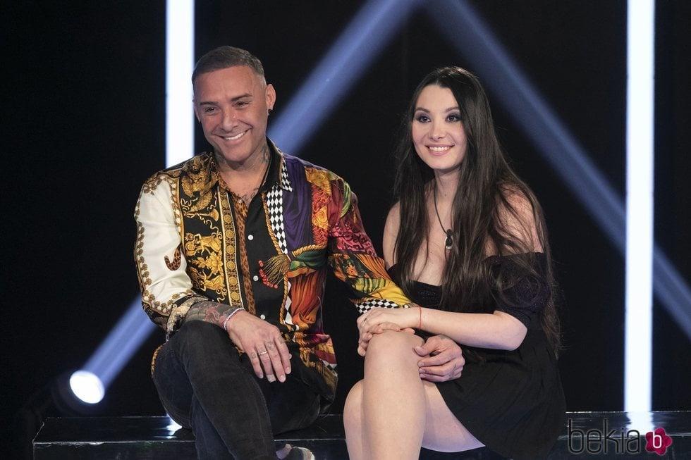 Dinio y su mujer Milena se reencuentran en la Gala 5 de 'El tiempo del descuento'