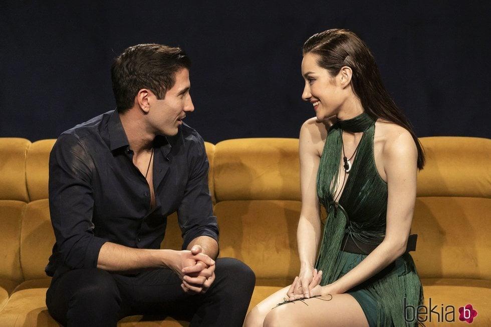 Gianmarco y Adara se reencuentran en la Gala 5 de 'El tiempo del descuento'