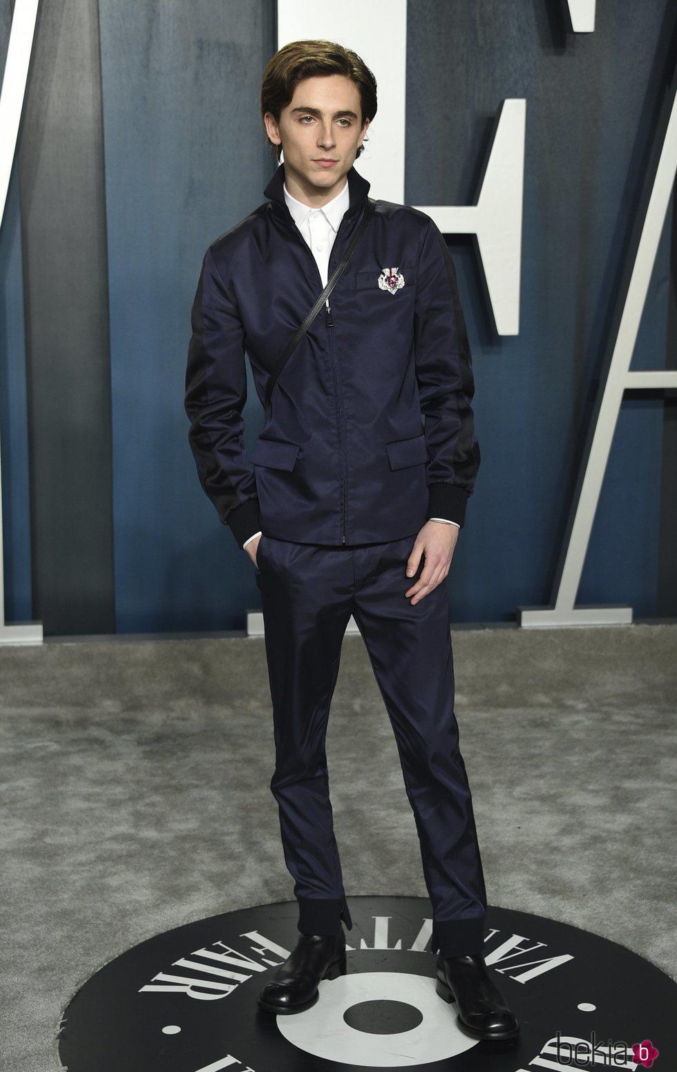 Timothée Chalamet en la fiesta de Vanity Fair tras los Oscar 2020