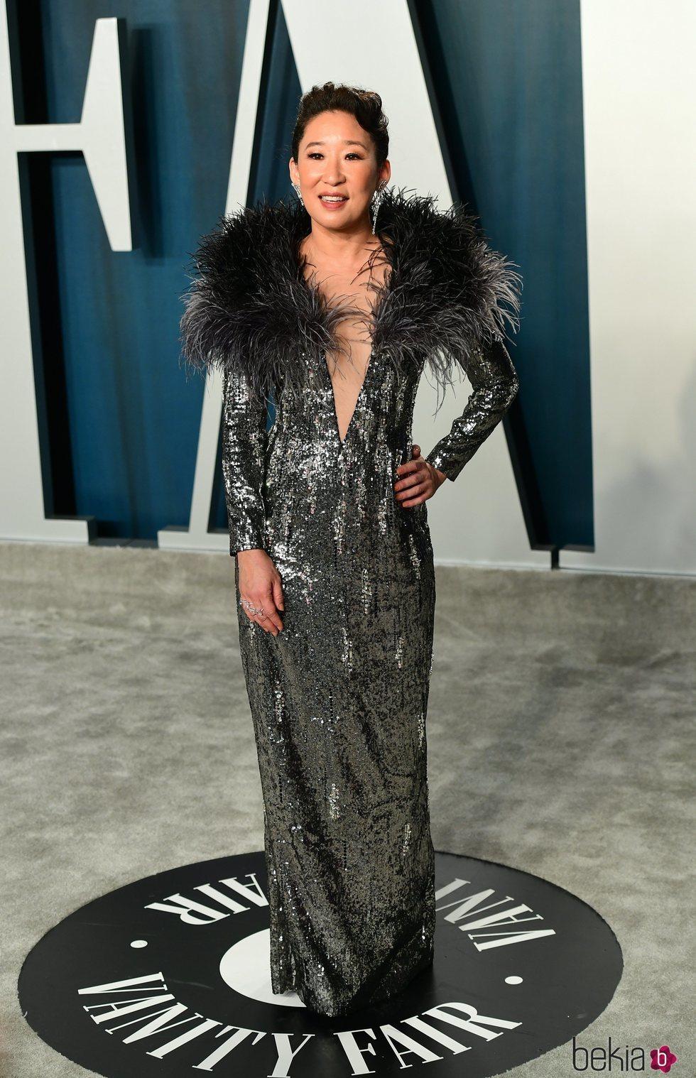 Sandra Oh en la fiesta de Vanity Fair tras los Oscar 2020