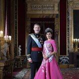 Retrato oficial de gala de los Reyes Felipe y Letizia