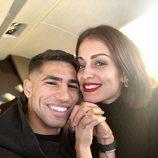 Hiba Abouk y Achraf Hakimi, muy enamorados