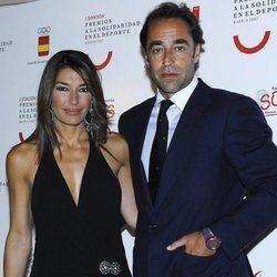 Raquel Revuelta y Miguel Ángel Jiménez en los Premios Solidaridad en el Deporte 2007