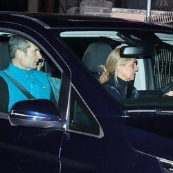 Iñaki Urdangarin y la Infanta Cristina llegando a Vitoria durante el segundo permiso carcelario