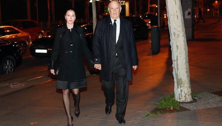 Carlos Falcó y Esther Doña acudiendo a la misa funeral de la Infanta Pilar en Madrid