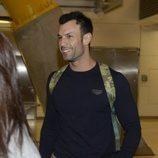 Jorge Rodríguez en el aeropuerto camino a 'Supervivientes 2020'