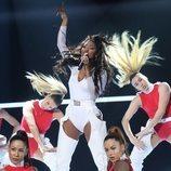 Nia Peeples durante su actuación en la Gala 5 de 'OT 2020'