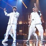 Jesús y Bruno durante su actuación en la Gala 5 de 'OT 2020'