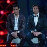Kiko Jiménez y Gianmarco Onestini en la gala final de 'El tiempo del descuento'