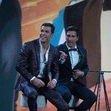 Gianmarco Onestini y Kiko Jiménez en la gala final de 'El tiempo del descuento'