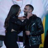 Anabel Pantoja se reencuentra con Omar Sánchez en la gala final de 'El tiempo del descuento'