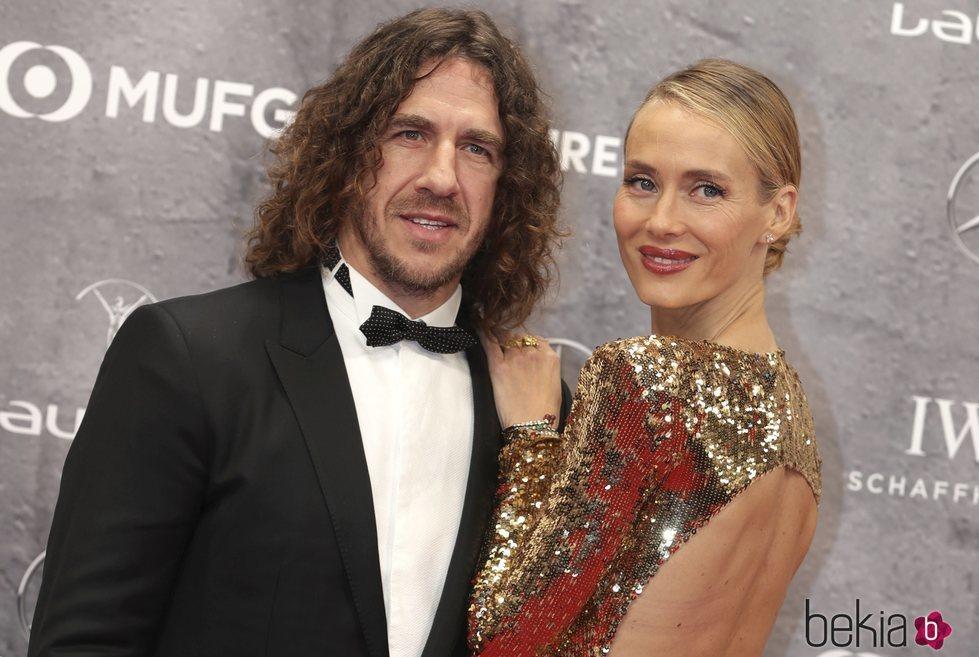 Carles Puyol y Vanesa Lorenzo en los Premios Laureus 2020