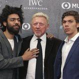 Boris Becker con sus hijos en los Premios Laureus 2020