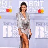 Michelle Keegan en la alfombra roja de los Brit Awards 2020